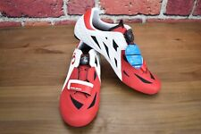 White/Red Pearl Izumi Elite Road v5 Cycling Carbon Bike Shoes Mens 43 EU 9.25 US