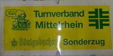 Zuglaufschild des Sonderzuges zum Deutschen Turnfest Hamburg 1993