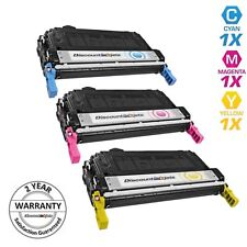 3 Pack Toner Set for HP 644A Q6461A Q6462A Q6463A Color LaserJet 4730 mfp
