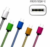 1M 2M 3M USB Type-C Aluminium Strong Braided Sync & Charger Cable For C Devices