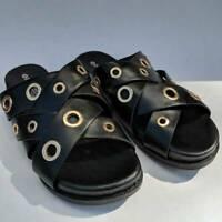 Patrizia By Spring Step Womens Olavi Grommet Slide Sandals Black 5.5-6 EUR 36