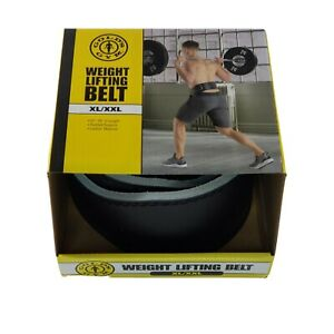 """Gold's Gym Weight Lifting Belt XL/XXL Leather Power Lifting 37""""-55"""" in Length"""