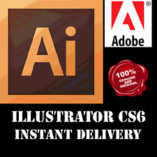 Adobe ILLUSTRATOR CS6 32/64 Bit Full Version | OFFICIAL DOWNLOAD + KEY | Windows