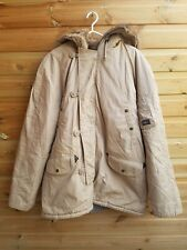 """Mens Sand Hooded Padded Heavy Winter Parka Coat Size XL 42-44"""" by Pepe Jeans"""