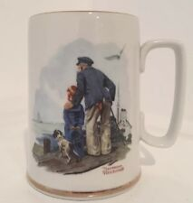Norman Rockwell Coffee Mug Cup Looking Out To Sea Tankard