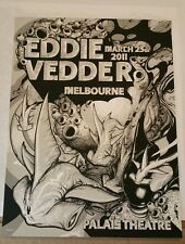Eddie Vedder Poster Melbourne Pearl Jam March 25 2011 (not emek or sperry)