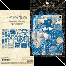 Graphic 45 OCEAN BLUE Die Cuts x51