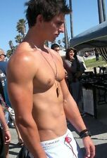 Shirtless Male Beefcake Hunk Muscular Pumped Chest Pecs Outdoors PHOTO 4X6 C251