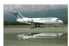 Postcard Fokker F28 Fellowship 1000 of Air France Operated by TAT Chambery 7/87