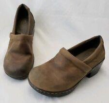 BOC Born Concept Women's Brown Leather Clogs Slip On Shoes Mules Size 6 M