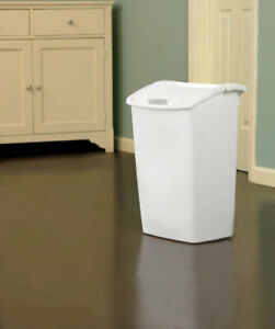 Rubbermaid 2803 BISQU Bisque Swing-Out Trash Can 11.25 gal. Capacity (Pack of 6)