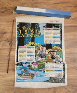 RARE Signed Robert Raikes Bear Calendar 1990