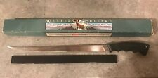 """Vintage Coleman Western Cutlery Large 12"""" Fillet Knife 9612 Made in the USA Box"""