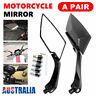 Pair Universal Motorcycle Bar End Mirrors Motorbike Side Rear view Mirror Handle