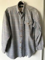 Vintage Orvis Men's Flannel Button Down Shirt M Plaid Long Sleeve Outdoors
