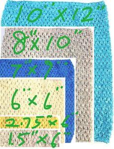 Crochet Tube Top Hairband Tutu Supplies   Super Stretchy Crochet Band UK Seller