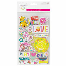 Project Life PLAYFUL (44) CHIPBOARD STICKERS scrapbooking 380354