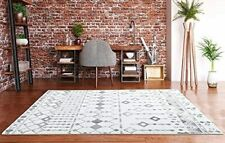 Large Trellis Rugs Living Room Bedroom Carpets Gray Silver Area Rugs Large New