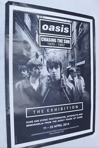 """Hand-Signed OASIS Chasing the Sun 1993-1997 """"The Exhibition"""" Poster 2014 - K26"""