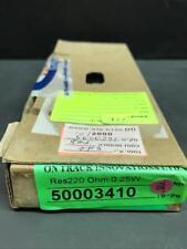 Carbon Film Resistor 220 OHM 1/4W 5% - Approx 762 PCS LOT