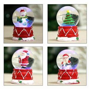 Crystal Snow Globe Snowman Glass Ball Craft Home Christmas Christmas Decor x1