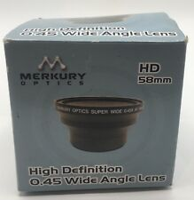 Merkury Optics HD 58mm 0.45 Wide Angle Camera Lens Free Shipping New in Box