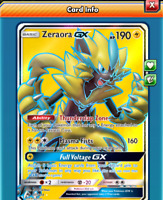 Digital Zeraora gx Full Art pokemon tcg online