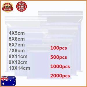 5-2000pcs AU Small Zip Lock Plastic Bags Reclosable Resealable Zipper HQ (Thick)