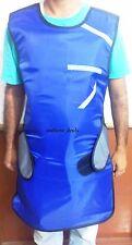 X ray Protective Blue Lead Apron Flexible Lead Vest Dental .5mm Pb (Velcro)