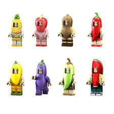 8pcs/set Fruit Vegetables Cartoon Building Blocks Bricks Models Figures Toys