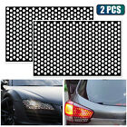 2x Car Rear Tail Light Cover Black Honeycomb Sticker Tail-lamp Decal Accessories
