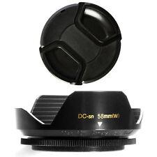 58mm Wide Flower Lens Hood and Lens Cap for SONY DSC-F707 DSC-F717 DSC-F828, NEW