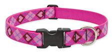"Lupine Dog Collar 1"" PUPPY LOVE 16""-28"" New Pink Hearts Diamonds Red USA"