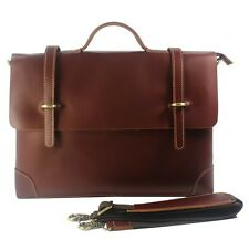 "High Class Men's Cowhide Real Leather Shoulder Bag Messenger 14""laptop Briefcase"