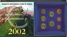 SAN MARINO SERIE EURO  DIVISIONALE SET € UFFICIALE ZECCA 2002  8 PZ. UNC REGALO