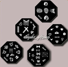 5pcs DIY Nail Art Decoration Metal Stamp Plate Image Template (QA26-30)