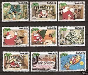 ANGUILLA # 453-461 MNH DISNEY NIGHT BEFORE CHRISTMAS, 1981