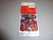 NE Louisiana Indians vs Georgia Bulldogs 9-17-1994 Football Game Ticket Stub
