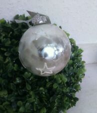 Weihnachtskugel*Stern *silber  Shabby Chic Winter Christbaumkugel neu Brocante