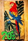 70 's Vintage Rug Tapestry Wall Deco Wall Han