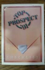 1991 Upper Deck Top Prospect Set!! Chipper Jones RC & Reggie Sanders!!