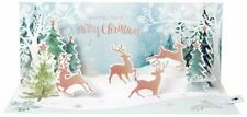 NEW Up With Paper Pop-Up Panoramic Holiday Christmas Card - Prancing Reindeer