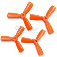 2 Pair Orange 3045 Bull Nose Props 3-blade CCW CW Propeller for 130-155 Drones