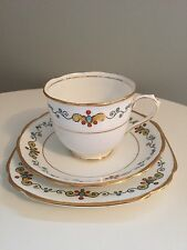 Vintage Taza de Té y Platillo trío Royal Albert Crown China Art Deco C.1930