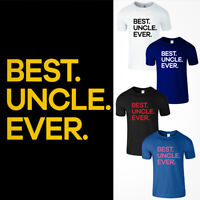 Best Uncle Ever Men T Shirt Funny Fathers Day Cool Birthday Holiday Gift Dad Tee