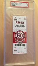 MIKE TROUT First MLB Hit FULL TICKET 2011 PSA EX 5