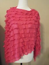 GiftCraft Pink Ruffled Poncho NWT