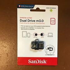 SanDisk USB 256GB Ultra Dual M 3.0 USB 150MB/s ULTRA DUAL DRIVE M3 OTG micro USB