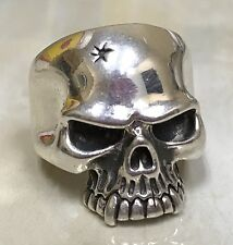 Sterling Silver Skull Ring Size 10.25