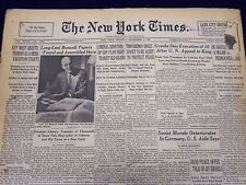 1948 NOV 8 NEW YORK TIMES NEWSPAPER - LONG LOST BOSWELL PAPERS FOUND - NT 13